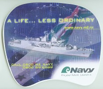 NZ Navy printed mouse mat