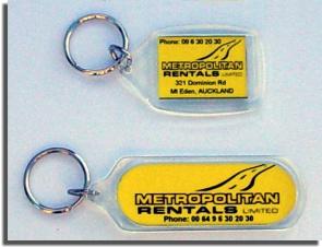 Metropolitan Rentals Key Tag