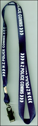 NZ Police Commission Printed Lanyard