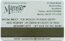 Advertising on Spencer on Byron Hotel Key Card